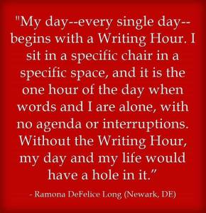 NEA writing hour quote