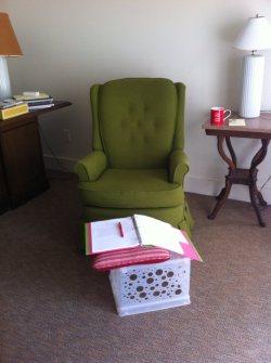 VCCA green chair