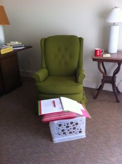 VCCA green chair